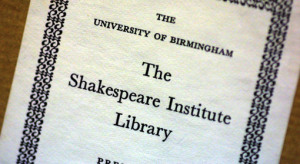 shakespeare-institute-library
